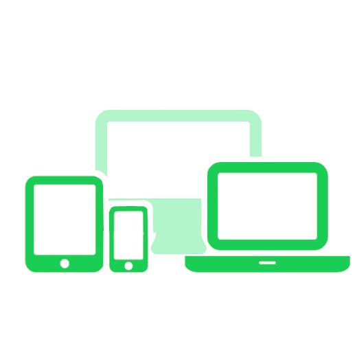 Handy, Tablet, Laptop und Desktop PC