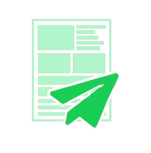 Newsletter mit Papierflieger